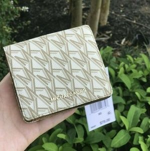 Michael Kors Jet Set Travel Card Case Wallt Acorn